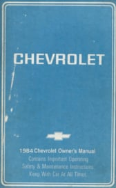 Chevrolet   Instructieboekje 84 #1 Engels