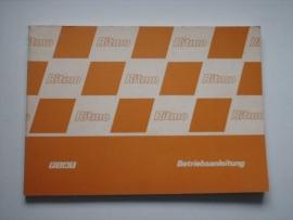 Fiat Ritmo  Instructieboekje 85 #1 Duits