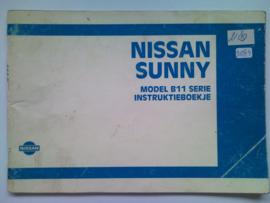 Nissan Sunny B11 Instructieboekje 84 #3 Nederlands
