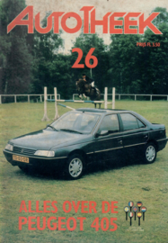 Peugeot 405  Brochure 88 #1 Nederlands