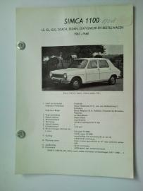 Simca 1000  Vraagbaak ATH 67-68 #1 Nederlands