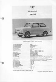 Fiat 850 850S  Vraagbaak ATH 64-65 #3 Nederlands