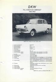 DKW F12  Vraagbaak ATH 63-65 #2 Nederlands