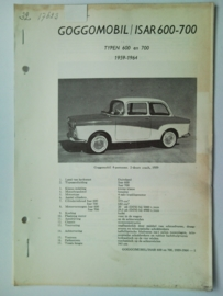 Goggomobil Isar 600 700  Vraagbaak ATH 59-64 #3 Nederlands