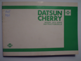 Datsun Cherry Model N10 Instructieboekje 80 #1 Nederlands