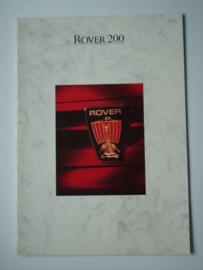 Rover 200  Brochure 88 #3 Nederlands