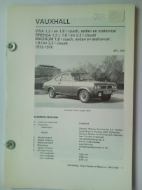 Vauxhall Viva Firenza Magnum  Vraagbaak ATH 72-76 #1 Nederlands