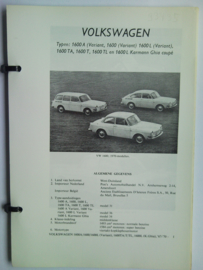 Volkswagen 1600  Vraagbaak ATH 67-70 #3 Nederlands