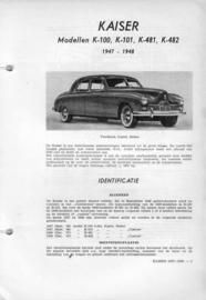 Kaiser K-100 K-101 K-481 K-482  Vraagbaak ATH 47-48 #1 Nederlands