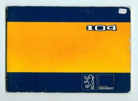 Peugeot 104  Instructieboekje 81 #2 Nederlands Duits Frans Italiaans