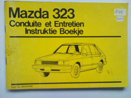 Mazda 323  Instructieboekje 79 #1 Nederlands Frans