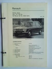 Renault 16  Vraagbaak ATH 70-74 #1 Nederlands