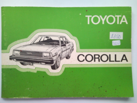 Toyota Corolla  Instructieboekje 82 #1 Nederlands