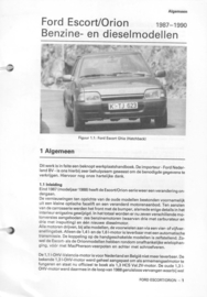 Ford Escort Orion  Vraagbaak ATH 87-90 #1 Nederlands