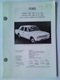 Ford Cortina 1300 1500 1600 GT Vraagbaak ATH 67 #1 Nederlands