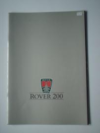 Rover 200  Brochure 87 #1 Nederlands