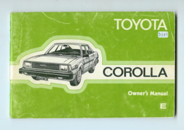 Toyota Corolla  Instructieboekje 82 #5 Engels