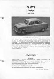 Ford Zephyr  Vraagbaak ATH 51-52 #1 Nederlands