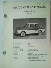 Goggomobil Isar 600 700  Vraagbaak ATH 59-64 #2 Nederlands