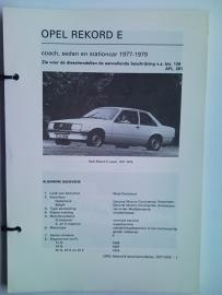 Opel Rekord E  Vraagbaak ATH 77-79 #3 Nederlands