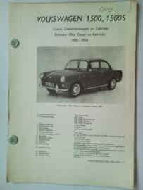 Volkswagen 1500 1500S  Vraagbaak ATH 61-64 #2 Nederlands