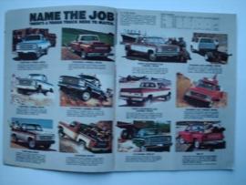 Chevy Pickups  Brochure 80 #1 Engels