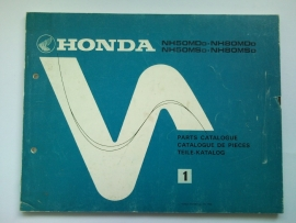 Honda NH50MD NH50MS NH80MD NH80MS  Onderdelenboek 82 #2 Engels Frans Duits