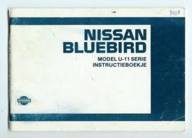Nissan Bluebird U11 Instructieboekje 85 #1 Nederlands