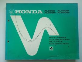 Honda CR250  Onderdelenboek 81 #1 Engels Frans Duits Spaans