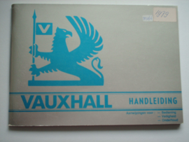Vauxhall   Instructieboekje 79 #1 Nederlands