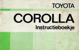 Toyota Corolla  Instructieboekje 74 #1 Nederlands