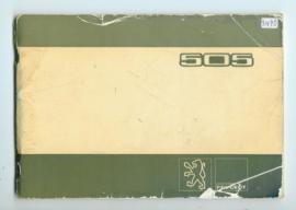Peugeot 505  Instructieboekje 80 #1 Nederlands Duits Frans Italiaans