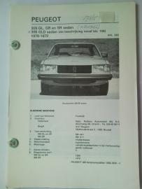 Peugeot 305 305 GLD = Diesel  Vraagbaak ATH 78-79 #1 Nederlands