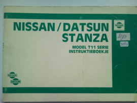 Nissan Stanza Model T11 Instructieboekje 83 #1 Nederlands