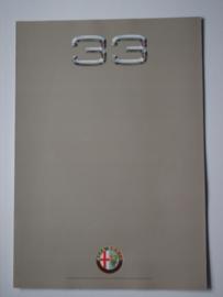 Alfa Romeo 33  Brochure 89 #1 Nederlands