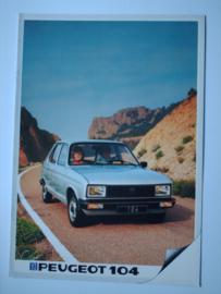 Peugeot 104  Brochure 83 #1 Nederlands