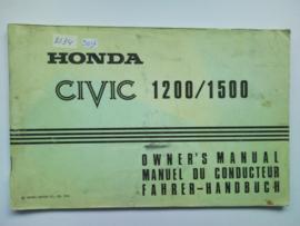 Honda Civic  Instructieboekje 75 #1 Engels Frans Duits