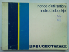 Peugeot 309  Instructieboekje 87 #2 Nederlands Frans