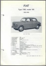Fiat 1100  Vraagbaak ATH 53-55 #1 Nederlands