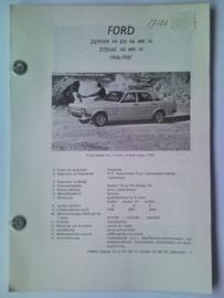 Ford Zephyr V4 en V6 Zodiac V6  Vraagbaak ATH 66-67 #2 Nederlands