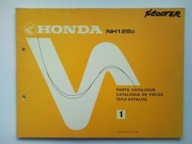 Honda NH125D  Onderdelenboek 83 #3 Engels Frans Duits