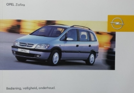 Opel Zafira A  Instructieboekje 2003 -12 #1 Nederlands
