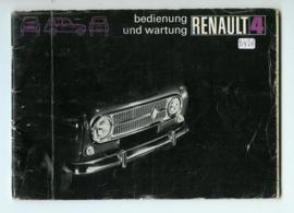 Renault 4  Instructieboekje 72 #1 Duits