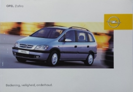 Opel Zafira A  Instructieboekje 2004 -06 #1 Nederlands