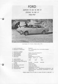 Ford Zephyr V4 en V6 Zodiac V6  Vraagbaak ATH 66-67 #5 Nederlands