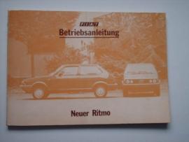 Fiat Ritmo  Instructieboekje 83 #1 Duits
