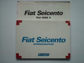 Fiat Seicento  Instructieboekje 98 #1 Duits