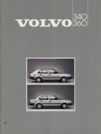 Volvo 340 360  Brochure 85 #1 Frans