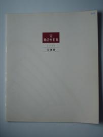 Rover 400  Brochure 91 #3 Nederlands
