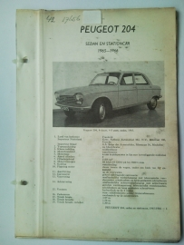 Peugeot 204  Vraagbaak ATH 65-66 #4 Nederlands